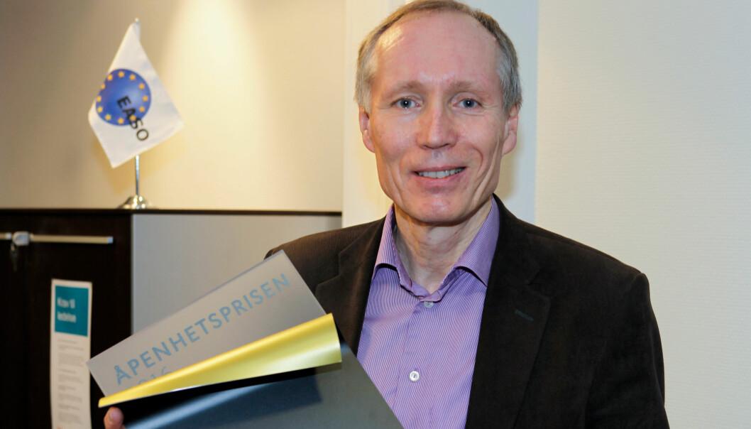 Frode Forfang er tildelt årets Åpenhetspris. Foto: Kommunikasjonsforeningen