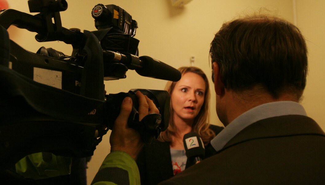 Kulturminister Linda Hofstad Helleland vil hindre spillreklame. Arkivfoto: Martin Huseby Jensen
