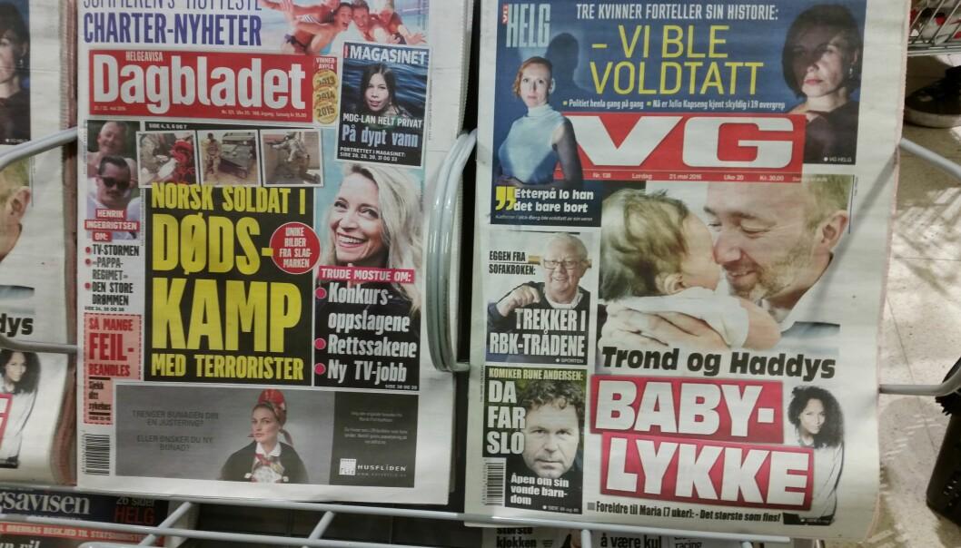 77 aviser opplevde at omsetningen sank med mer enn 10 prosent.