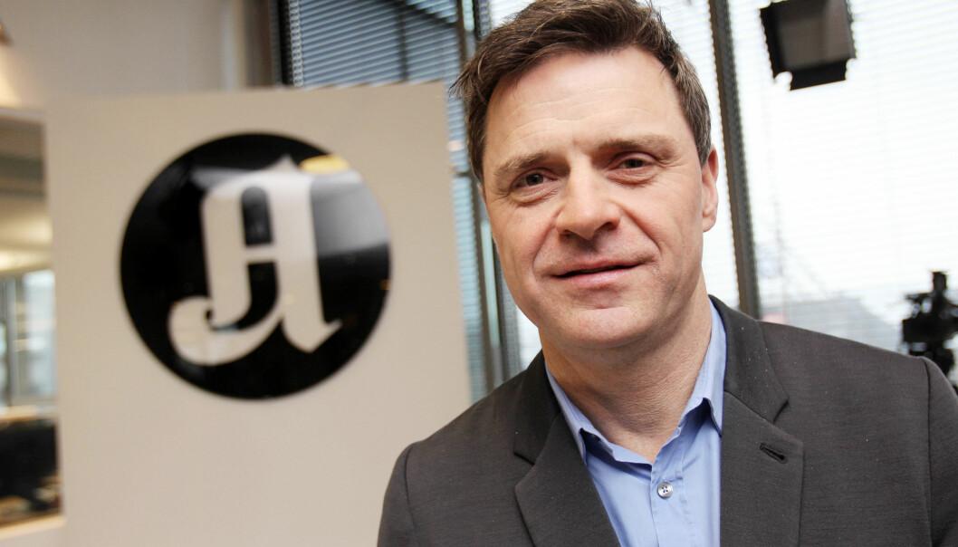 Sjefredaktør Espen Egil Hansen i Aftenposten sier det er krevende å konkurrere mot NRKs gratistilbud når han opplever at deres tilbud ligner Aftenpostens. Arkivfoto: Birgit Dannenberg