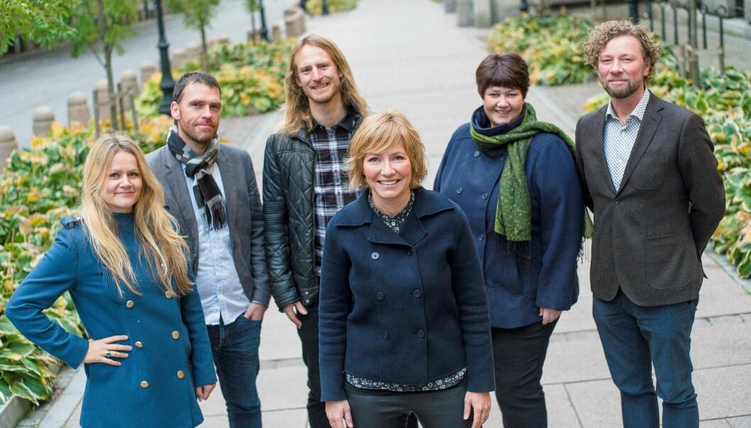 Fra venstre  Ingrid Erøy Fagervik, Trygve Wille Jordheim, Alf Kjetil Walgermo, Berit Aalborg, Alf Gjøsund, og Åshild Mathisen foran. Foto: Erlend Berge, Vårt Land