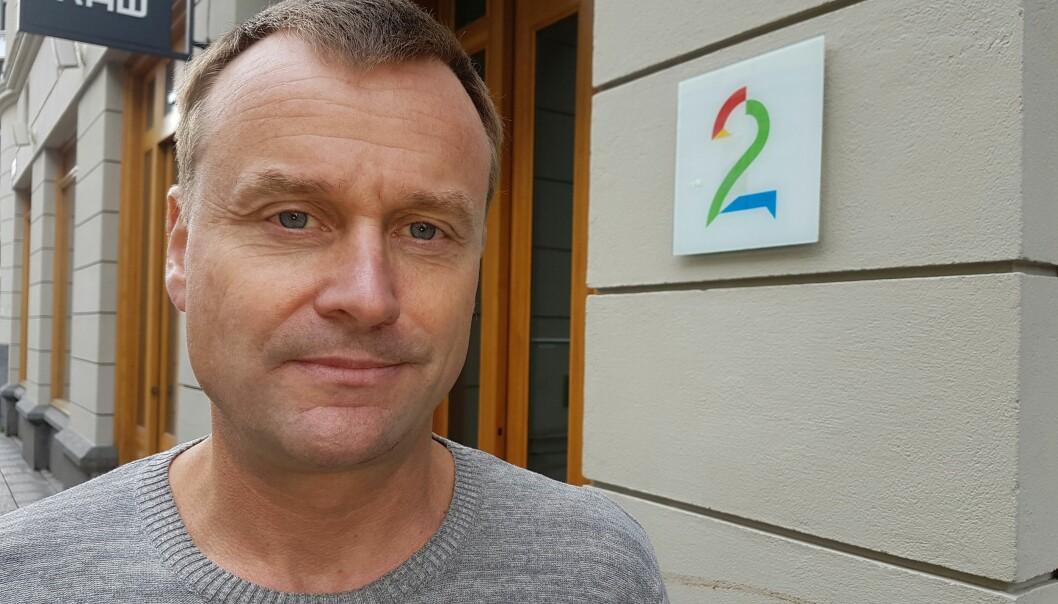 Stein Akre, nestleder i redaksjonsklubben Klubb 2, frykter for den grundige journalistikkens framtid i TV 2. Foto: Bjørn Åge Mossin
