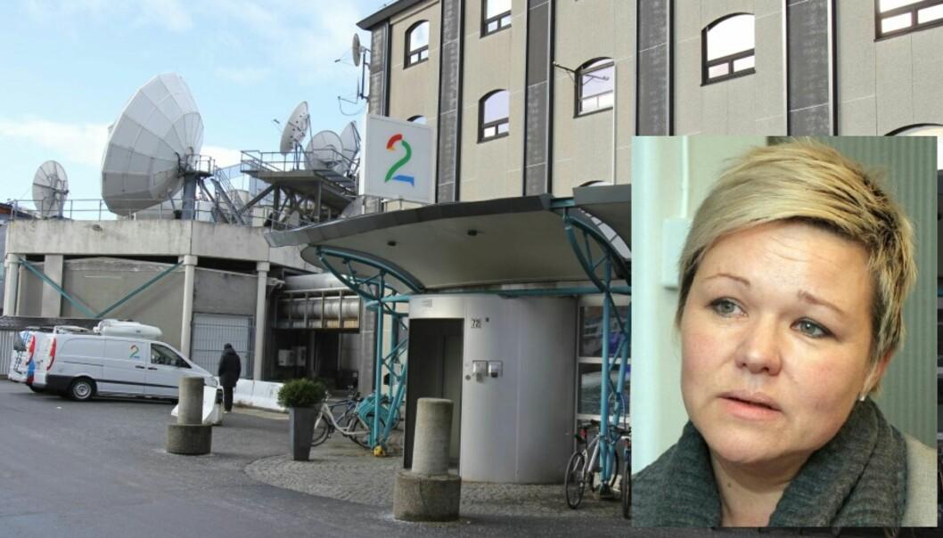 - Vårt hovedmål er å unngå oppsigelser, sier Henrikke Helland, leder av redaksjonsklubben i TV 2. Foto: Glenn Slydal Johansen og Birgit Dannenberg.