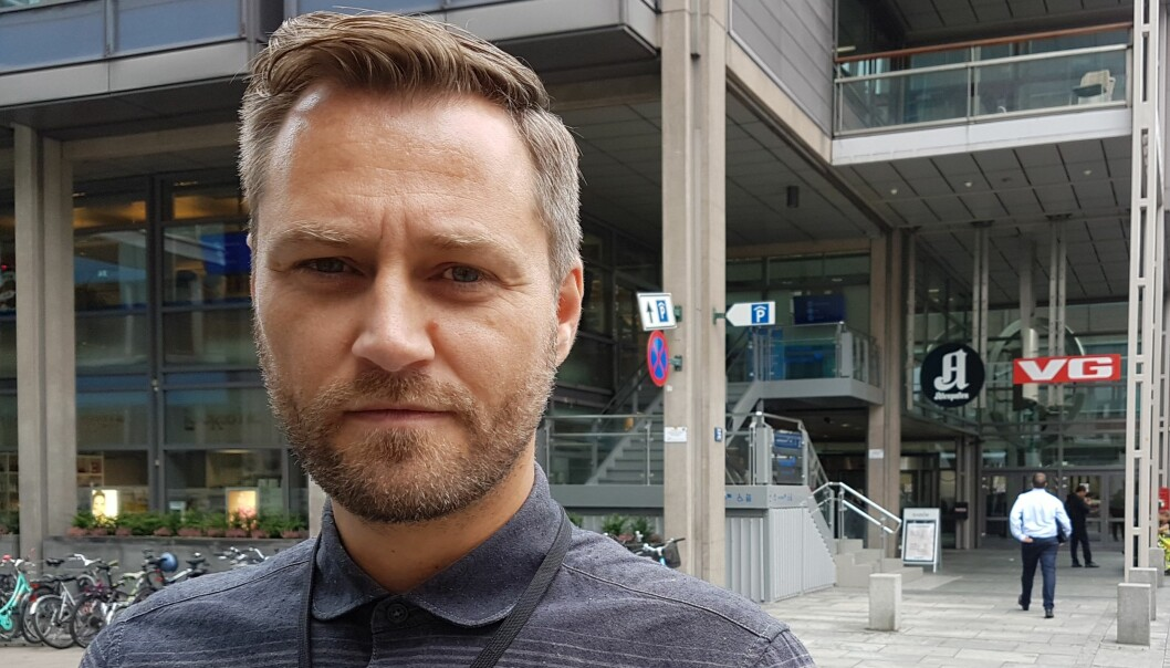Frank Lynum, leder av Aftenpostens Redaksjonsklubb, betegner de varlede omstillingstiltakene som dramatiske. Foto: Bjørn Åge Mossin