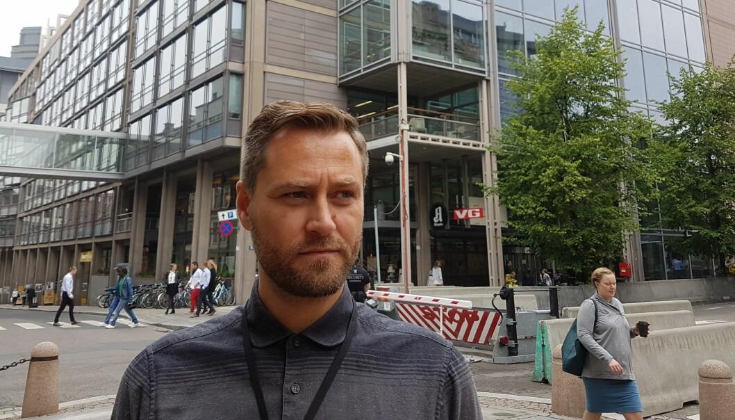 Klubbleder Frank Lynum er bekymret for kvaliteten, men mener at ledelsen nå tar noen riktige grep for journalistikken. Foto: Bjørn Åge Mossin