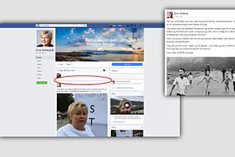 Facebook har slettet stats=ministerens Facebook-kritiske post