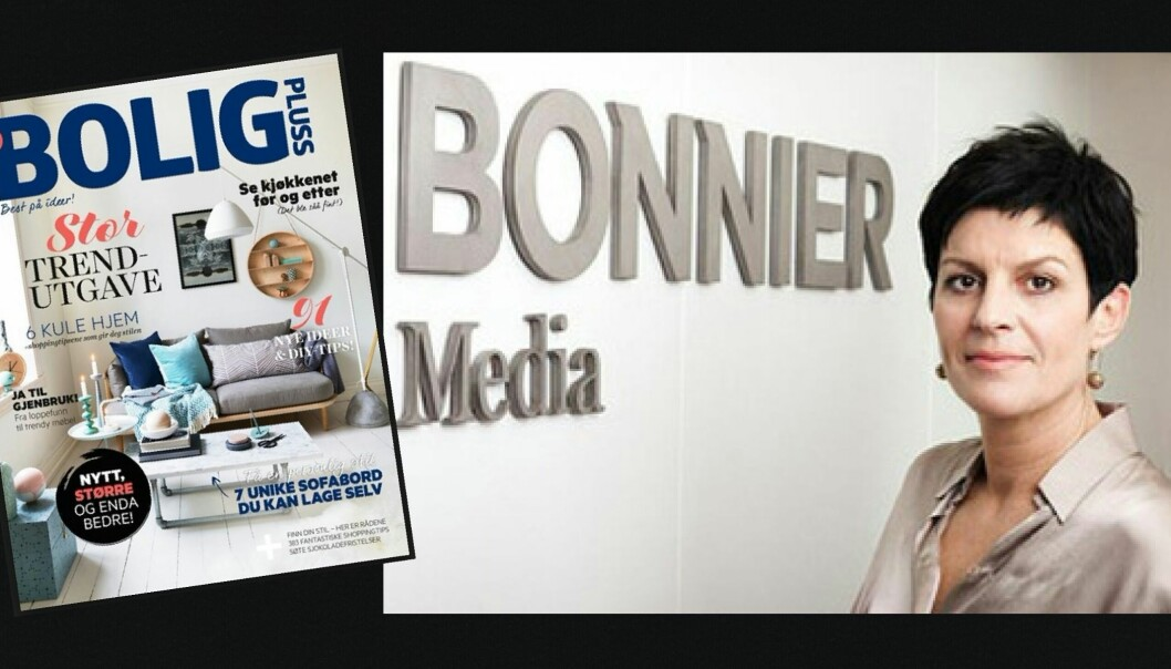 Gry Bjørhovde forlater jobben sin som forlagsdirektør i Bonnier Media, samtidig som redaksjonen i BoligPluss fjernes. Foto: Bonnier Media