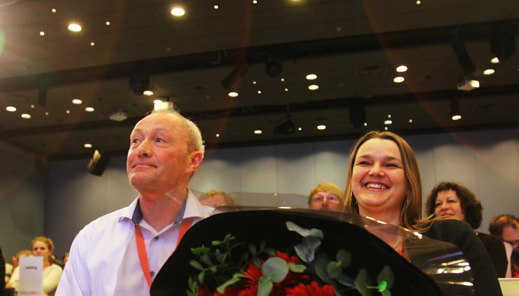 Thomas Spence stiller til gjenvalg og Hege Iren Frantzen stiller ikke til gjenvalg som nestleder men utfordrer Spence på ledervervet. (Foto: Martin Huseby Jensen)