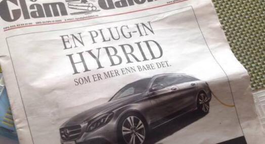 Glåmdalen solgte forsiden til bilforhandler