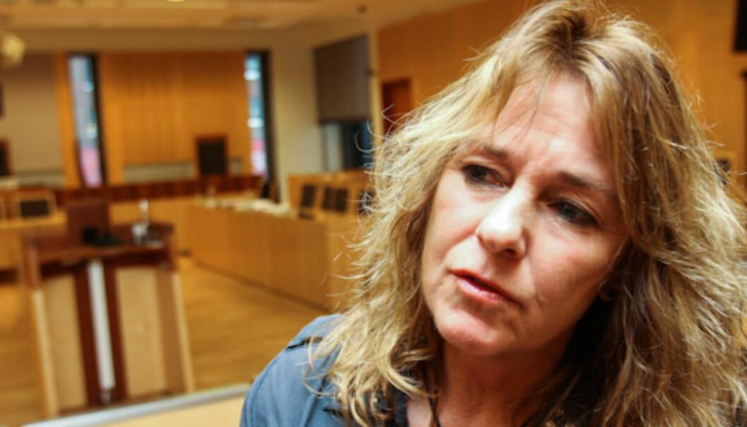 Nina Johnsrud, her fra rettssalen som vitne. Foto: Kathrine Geard
