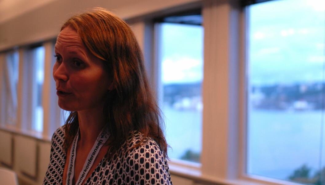 Medieforsker Liv Iren Hognestad har sett nærmere på fire mediers dekning av flyktningkrisen. Foto: Martin Huseby Jensen