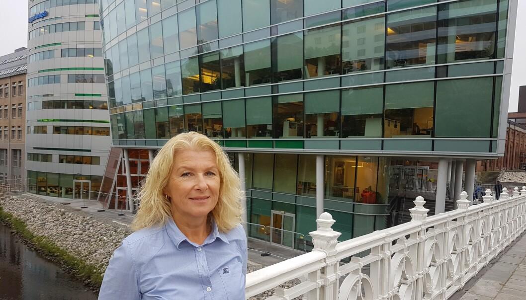 Lederen av redaksjonsklubben i DN, Anita Hoemsnes, bekrefter at hennes medlemmer er bekymret og skeptiske til å beholde så mange lederstillinger etter den pågående nedbemanningen av redaksjonen. Foto: Bjørn Åge Mossin