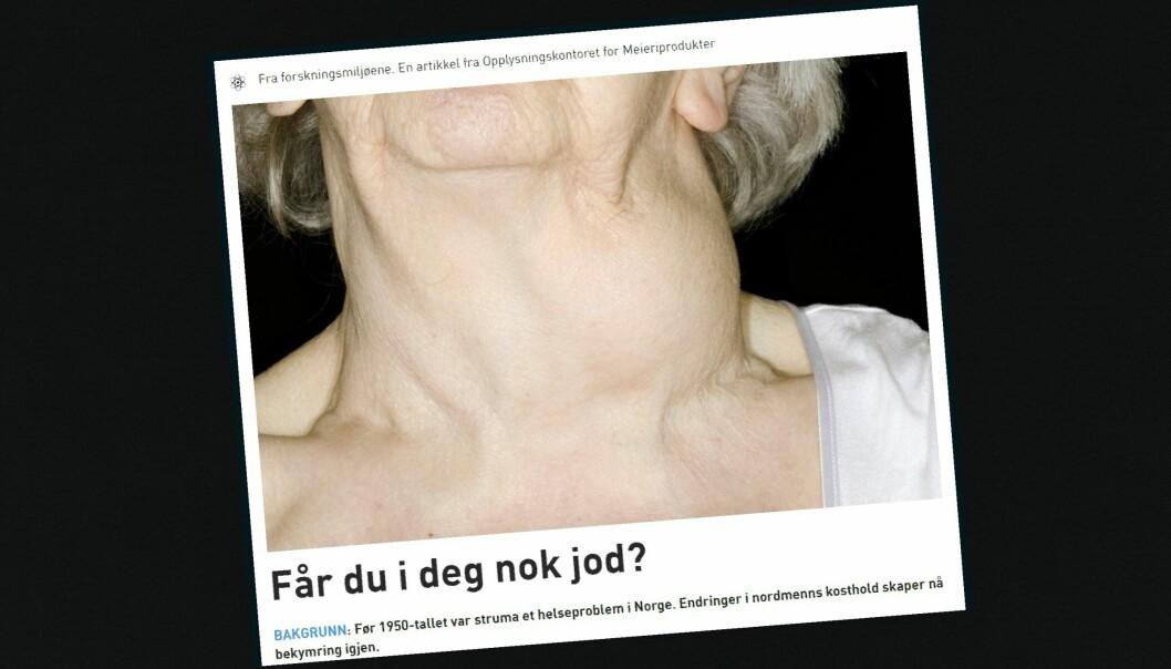 Reklame eller akseptabel forskningsformidling? Tirsdag skal PFU blant annet diskutere dette oppslaget i Forskning.no. Illustrasjon: Skjermdump fra Forskning.no 17. april 2016