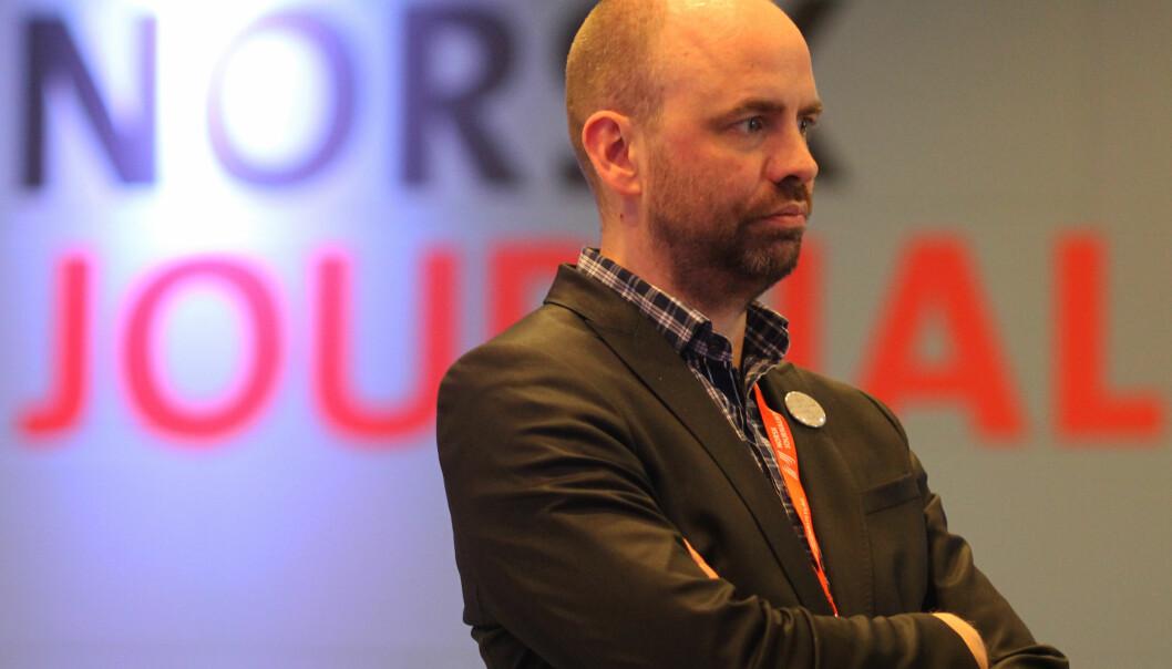 Arild Grande i Arbeiderpartiet fronter et flertall på Stortinget som vil gi statsstøtte til TV 2-nyhetene. Foto: Martin Huseby Jensen