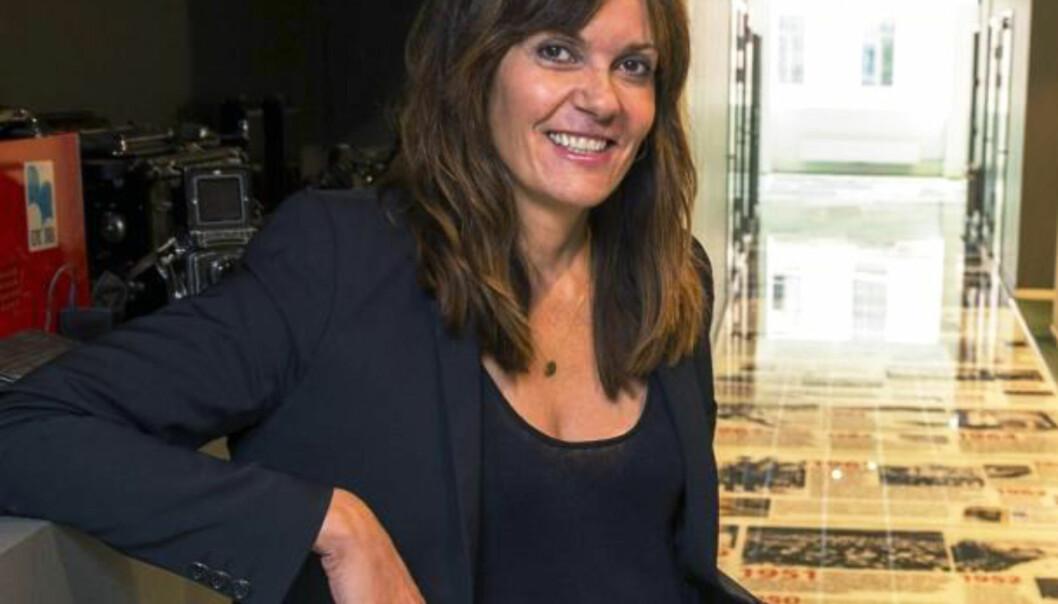 Drammens Tidende tok avgjørelsen om å måle konkurrenten før ansvarlig redaktør Kristin Monstad tok over. Hun mener det var en god beslutning for å få frem fakta om konkurrenten. Foto: Drammens Tidende
