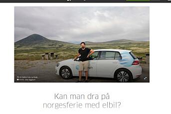 Selv om det ser slik ut har ikke Statskraft sponset Aftenposten med elbil