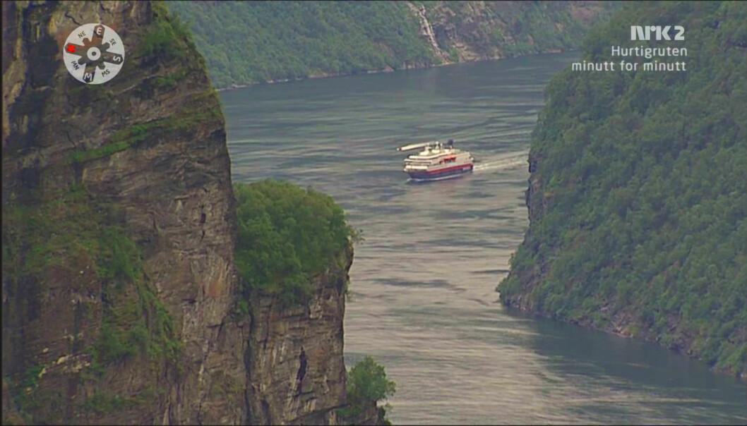 Hurtigruten er et av sendingene i serien minutt for minutt. Foto: nrkbeta/Flickr.com