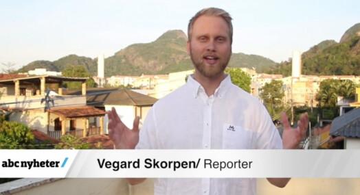 Jobber frivillig for OL-arrangøren, er reporter for ABC Nyheter