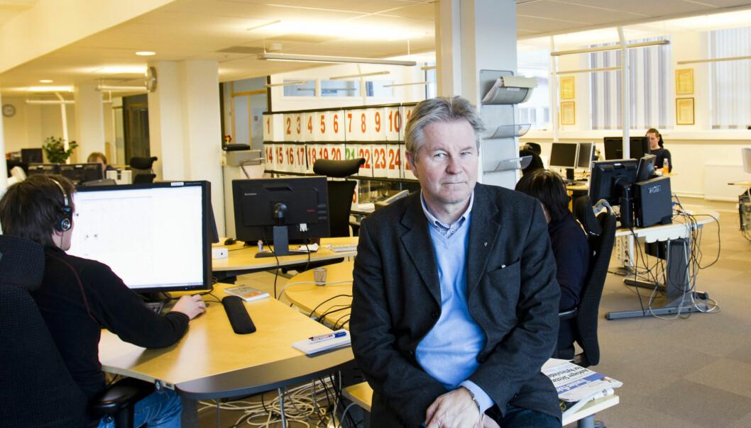 Direktør Arve Løberg i Trønder-Avisa opplevde historisk godt førstekvartal i fjor, men så flatet det ut. Samtidig som de kjøpte Namdalsavisa fra Amedia. Foto: Kathrine Geard