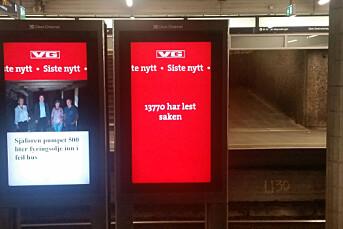 VG bruker klikktall i markedsføring