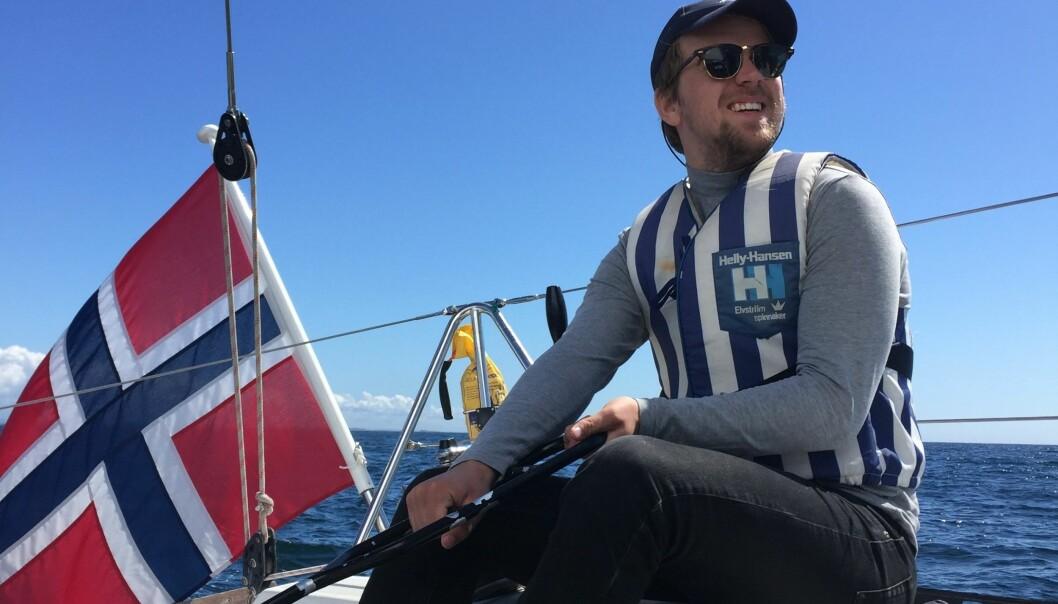 Mathias Fischer seilte fra Kristiansand til Hardanger tidligere i sommer. Foto: Privat