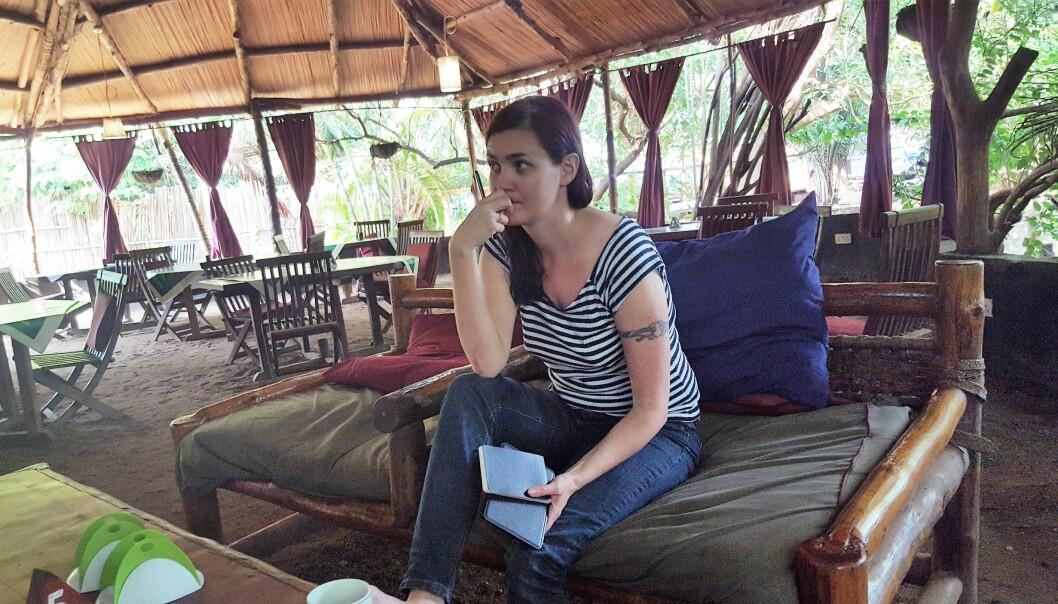 - Vi lytter på kampene. De er veldig kraftige nå akkurat, men dette området er ansett som ganske trygt, sier journalist Maren Sæbø til Journalisten mandag morgen. Hun har havnet midt i en dramatisk utvikling i Sør-Sudan. Foto: Privat