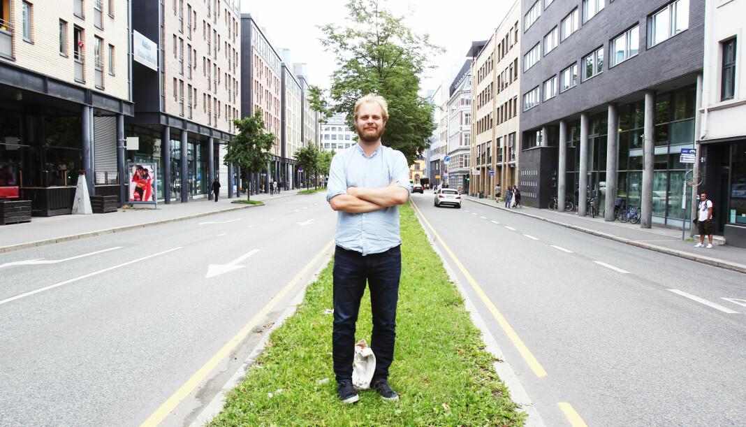 – Jeg vil bidra til et politisk skifte i Stavanger, som har vært høyrestyrt siden jeg var ni år, sier Mimir Kristjansson. Arkivfoto: Martin Huseby Jensen.