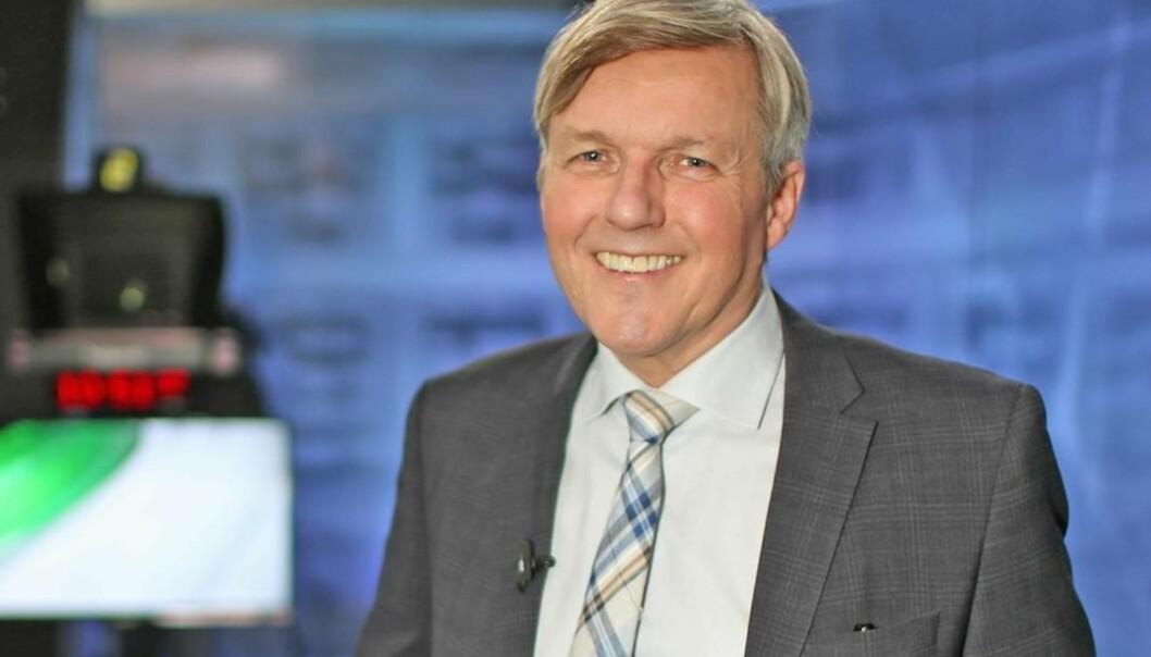 Jan Ove Ekeberg kom fra Dagens Næringsliv til TV 2 i februar 1993, et halvt år etter at kanalen gikk på lufta. Foto: TV 2