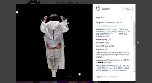 Rihanna rappet bilde fra VG