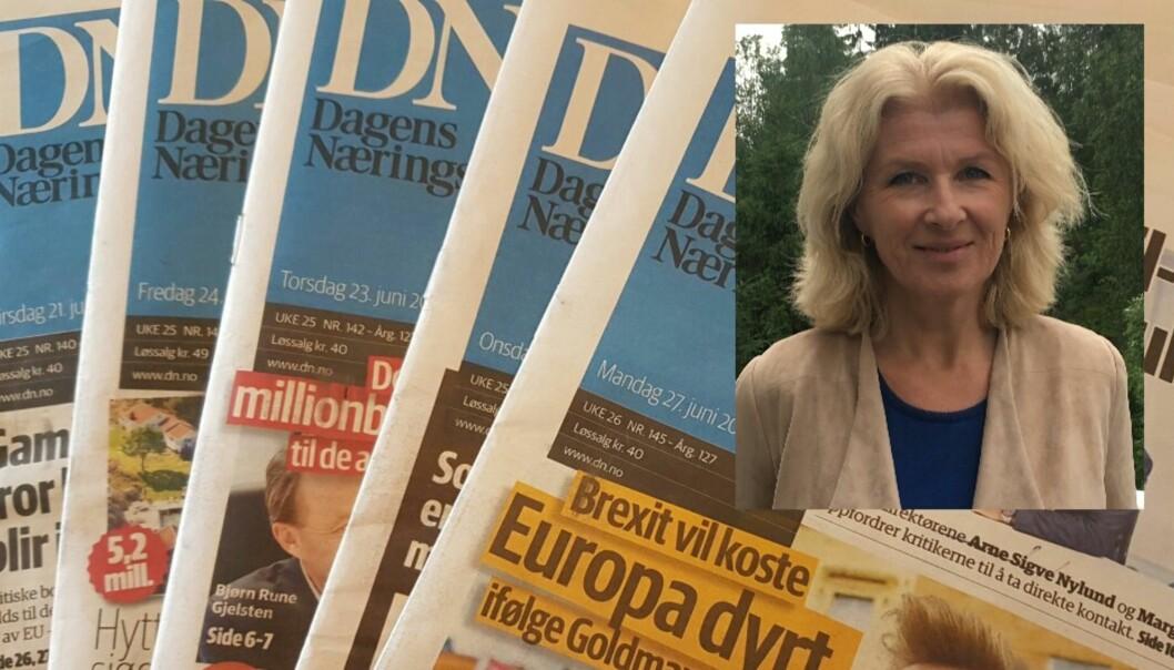 Klubbleder Anita Hoemsnes er trist over å måtte se så mange kolleger forlate Dagens Næringsliv.