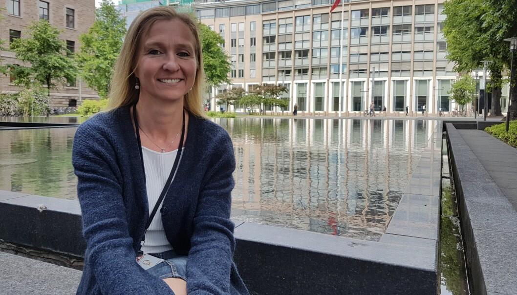 Anne-Lise von der Fehr forlater VG og Akersgata for å jobbe med kommunikasjon i en større fagforening. Hun slapp å vente lenge på ny jobb etter sluttpakken. Foto: Bjørn Åge Mossin
