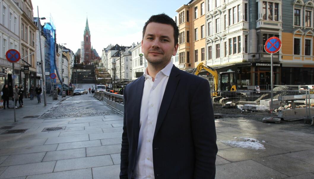 Sjefredaktør Øyulf Hjertenes i Bergens Tidende. Foto: Glenn Slydal Johansen