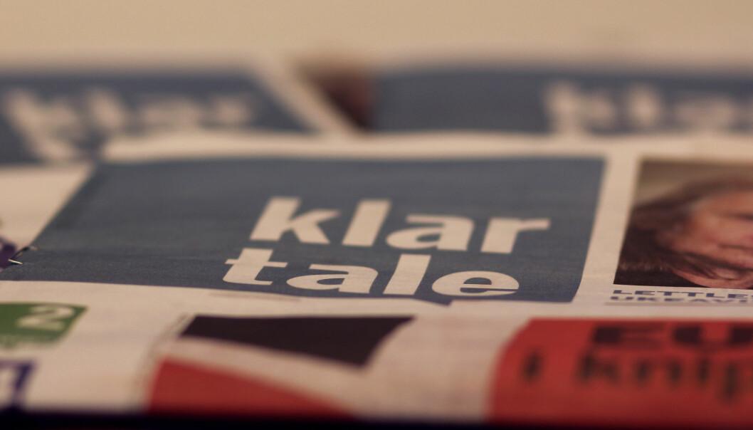 I dag produseres den lettleste ukeavisen Klart Tale av Mentor Medier-eide Lettlest Media. Nå er produksjonen lagt ut på anbud. Foto: Martin Huseby Jensen