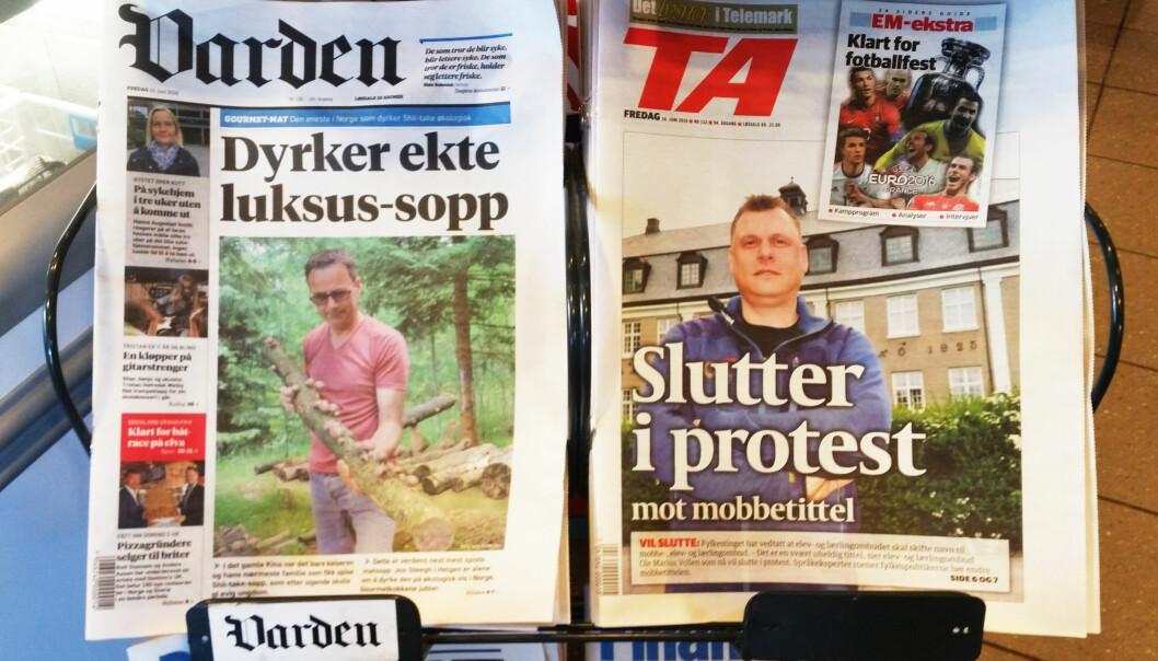 Konkurransen mellom Varden og TA er en av de tøffeste aviskonkurransene i Norge. Foto: Martin Huseby Jensen