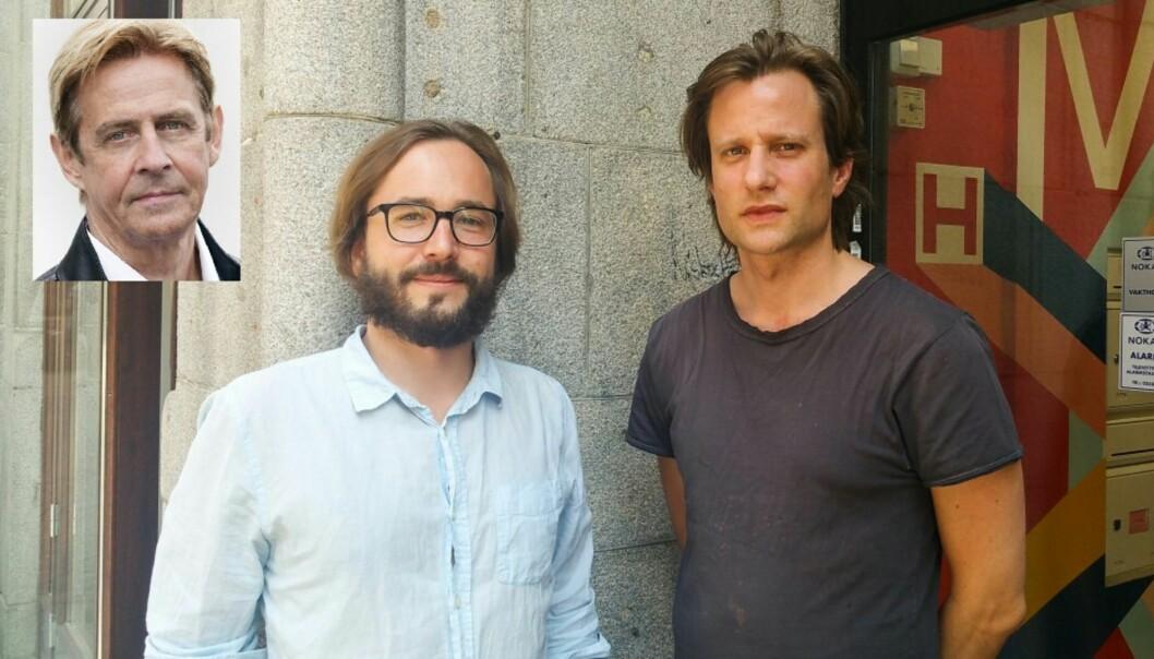 Fra venstre NRKs Anders Magnus og Harald Klungtveit (tv) og Pål Nordseth i Filter Nyheter. Foto:  Julia Marie Naglestad/NRK og Helge Øgrim