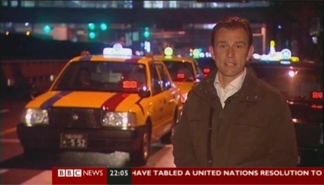 BBC-korrespondent Rupert Wingfield-Hayes og hans team ble pågrepet og utvist fra Nord-Korea. Foto: Skjermdump fra BBC