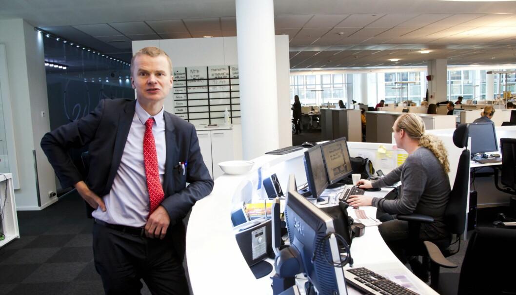 Sjefredaktør Lars Helle erklærer at han fortsatt jobber intenst for å unngå oppsigelser i Aftenbladets redaksjon. Foto: Jan Inge Haga