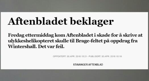 Aftenbladets kilder ga alvorlig feilinformasjon