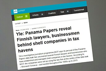 Truer med å ransake Yle og journalisters hjem i jakten på Panama-papirer