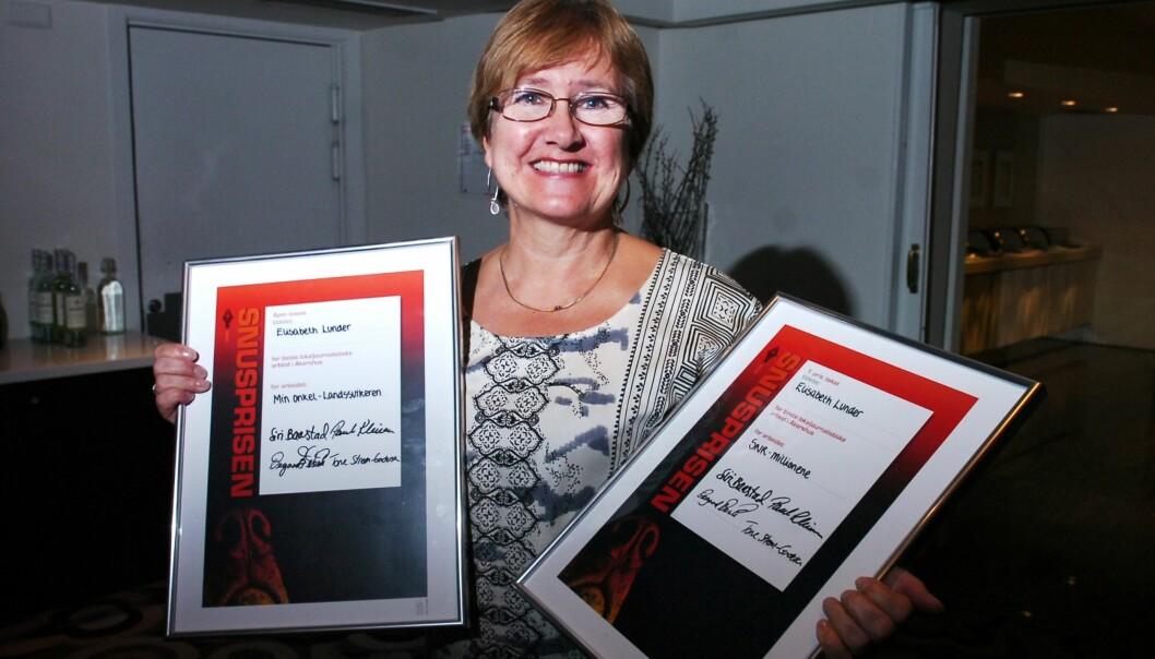 Elisabeth Lunder fra Romerikes Blad vant prisen i åpen klasse for sin reportasje om sin onkel Ole – Landssvikeren.