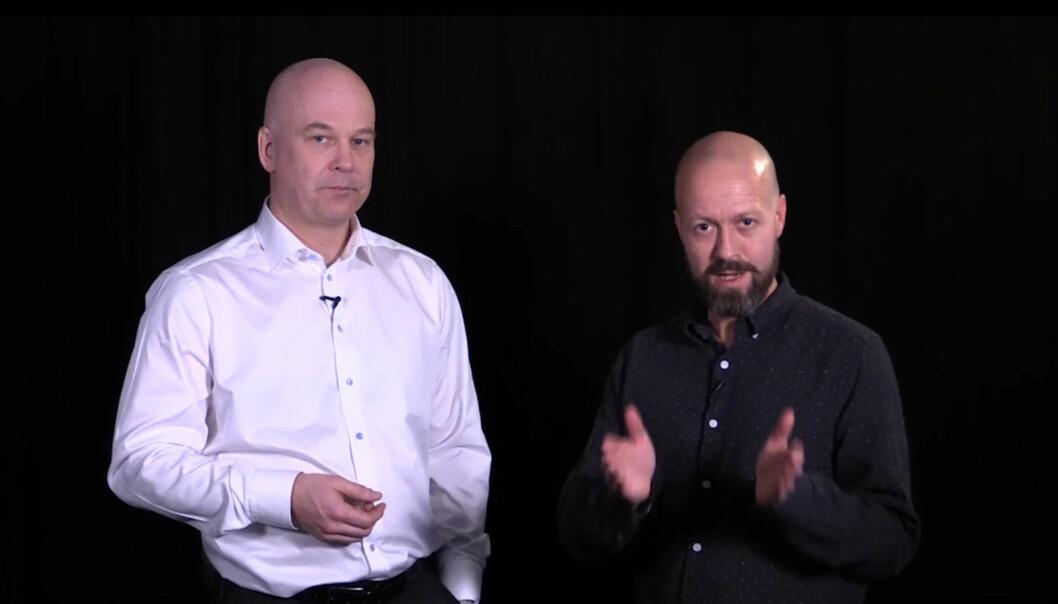 Skjermbilde fra videoen som introduserer NRK-journalistene for etikk-kampanjen. Foto: NRK