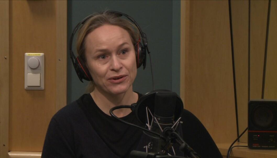 Irene Halvorsen har de siste årene vært en flittig gjest i Dagsnytt 18 som kommentator. Skjermdump fra NRK