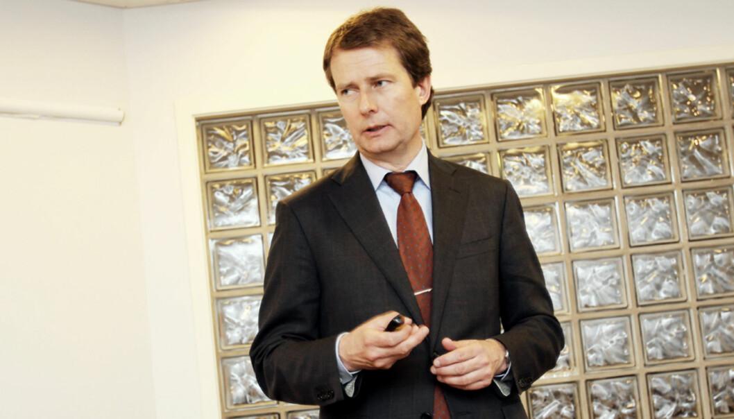 Konsernsjef Per Axel Koch presenterte fredag morgen de økonomiske resultatene for Polaris Media i årets andre kvartal og dermed første halvår.