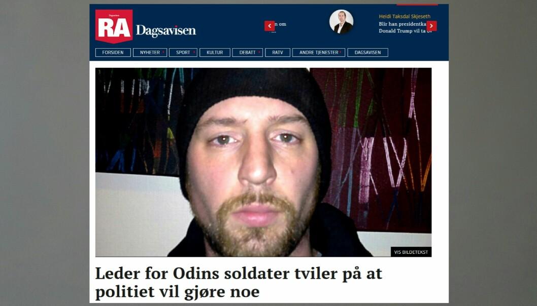 Klagen mot Rogalands Avis skyldes denne artikkelen som sto på trykk 23. februar i år. Faksimilie fra RA.