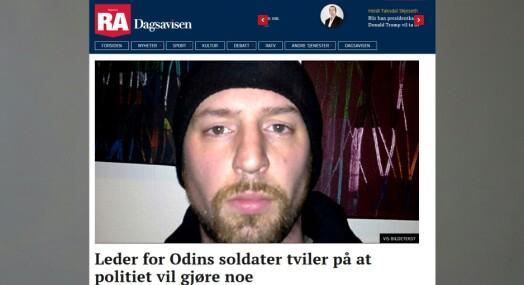 Rogalands Avis felt for å skrive at Odins Soldater hadde god dialog med politiet