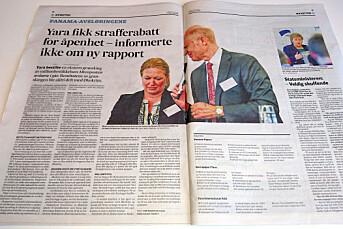 Fædrelandsvennen trykket Aftenpostens arbeidsutkast om Panama Papers – trakk sak om Yara