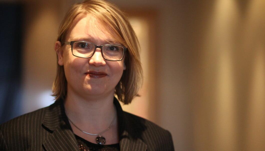 Marja Grill fra SVT gir Skup-deltakerne tips om hvordan grave i en hektisk hverdag. Foto: Martin Huseby Jensen