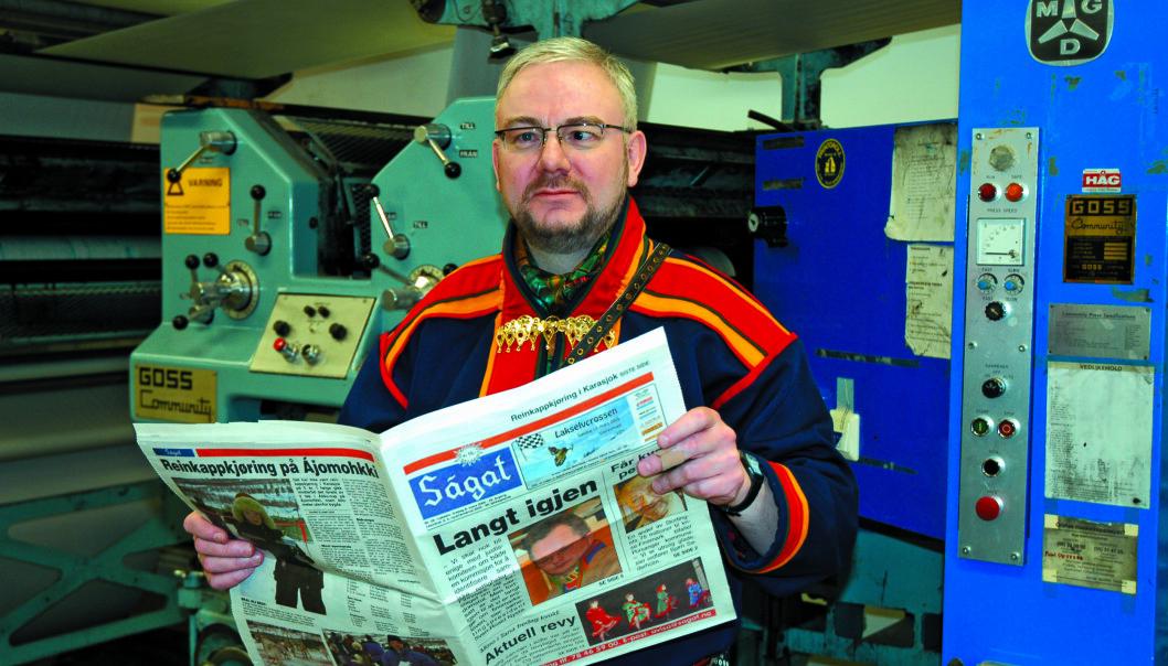 Sjefsredaktør Geir Wulff i Ságat synes det som har skjedd er veldig leit. Foto: Privat