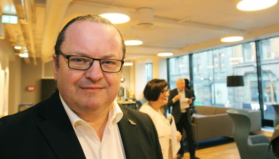 Rektor ved Høyskolen Kristiania Arne Krumsvik tror det er fornuftig at Finn.no blir med Schibsted videre. Arkivfoto: Martin Huseby Jensen