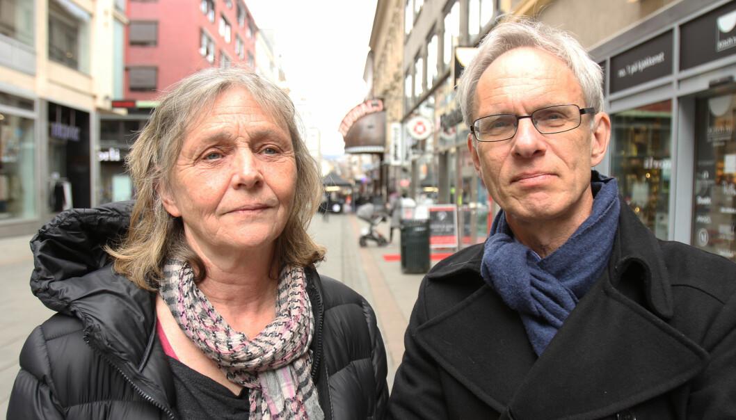 Turid Øvrebø og Paul Bjerke i Volda vil ha masterstudenter som gjerne har annen bakgrunn en journalistikkutdanningen. Foto: Martin Huseby Jensen